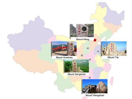 Năm ngọn núi nổi tiếng Trung Quốc