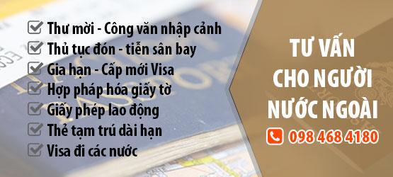 tư vấn visa cho người nước ngoài