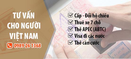 tư vấn visa cho người Việt Nam