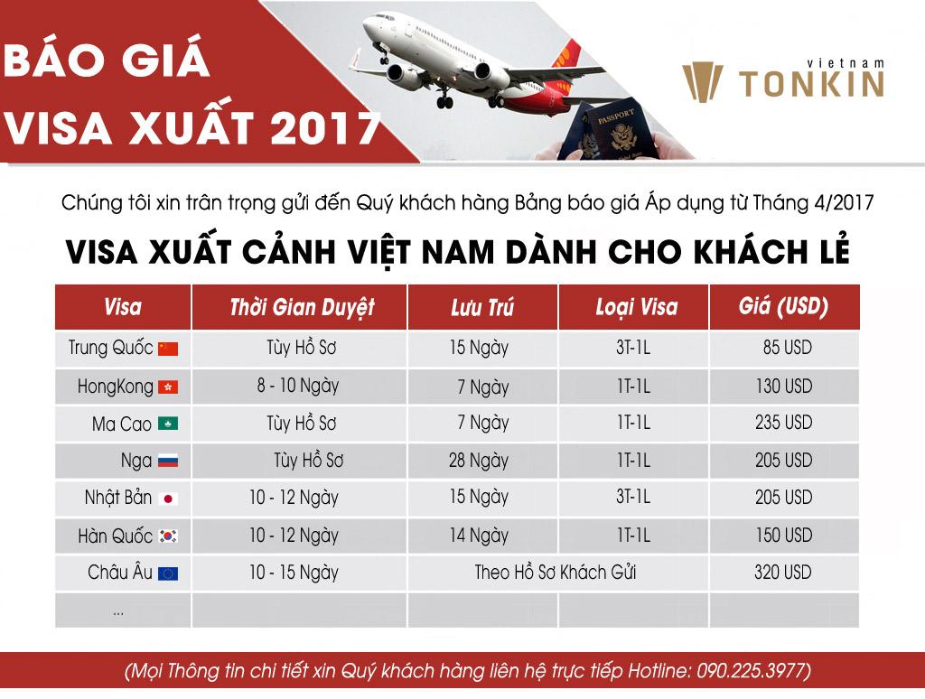 Visa xuất cảnh đi Nga, Hàn Quốc, Macao, Nhật...Giá siêu rẻ trong tháng 4